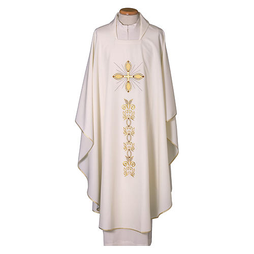 Chasuble 100% polyester with machine embroidery 1