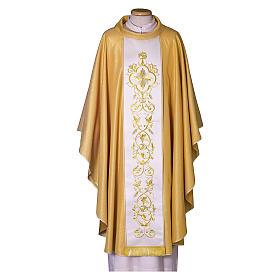 Casula oro con stolone pura lana decoro s1