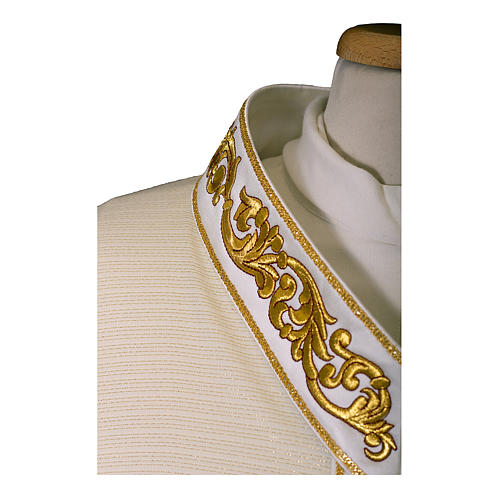 Casula preziosa lana lurex tessuto leggerissimo collo a v ricamato rinforzato 2