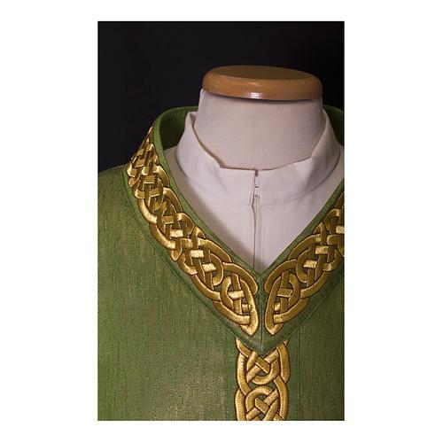 Casula lana lurex stolone leggerissimo stoloncino e collo ricamato rinforzato 2