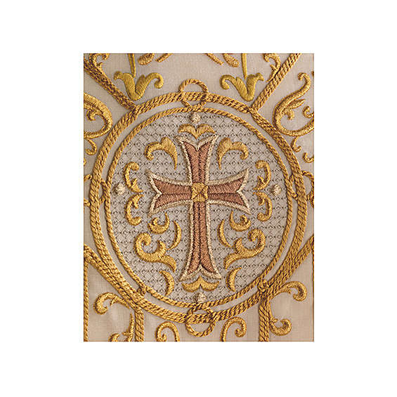 Kasel aus Wolle goldenen Stickerei 4