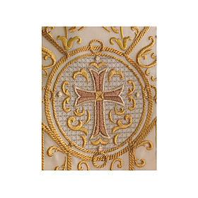 Kasel aus Wolle goldenen Stickerei s3