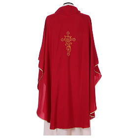 Chasuble 100% polyester with machine embroidery, light fabric s3