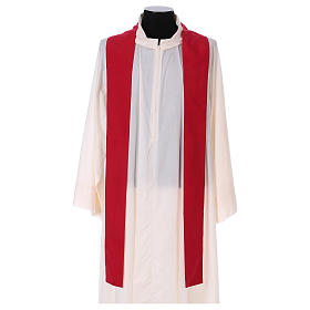 Chasuble 100% polyester with machine embroidery, light fabric s4