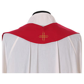 Chasuble 100% polyester with machine embroidery, light fabric s5