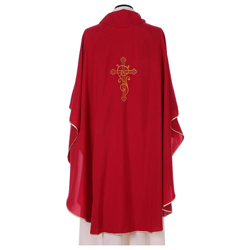 Chasuble 100% polyester with machine embroidery, light fabric 3