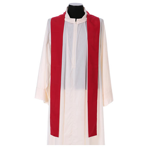 Chasuble 100% polyester with machine embroidery, light fabric 4