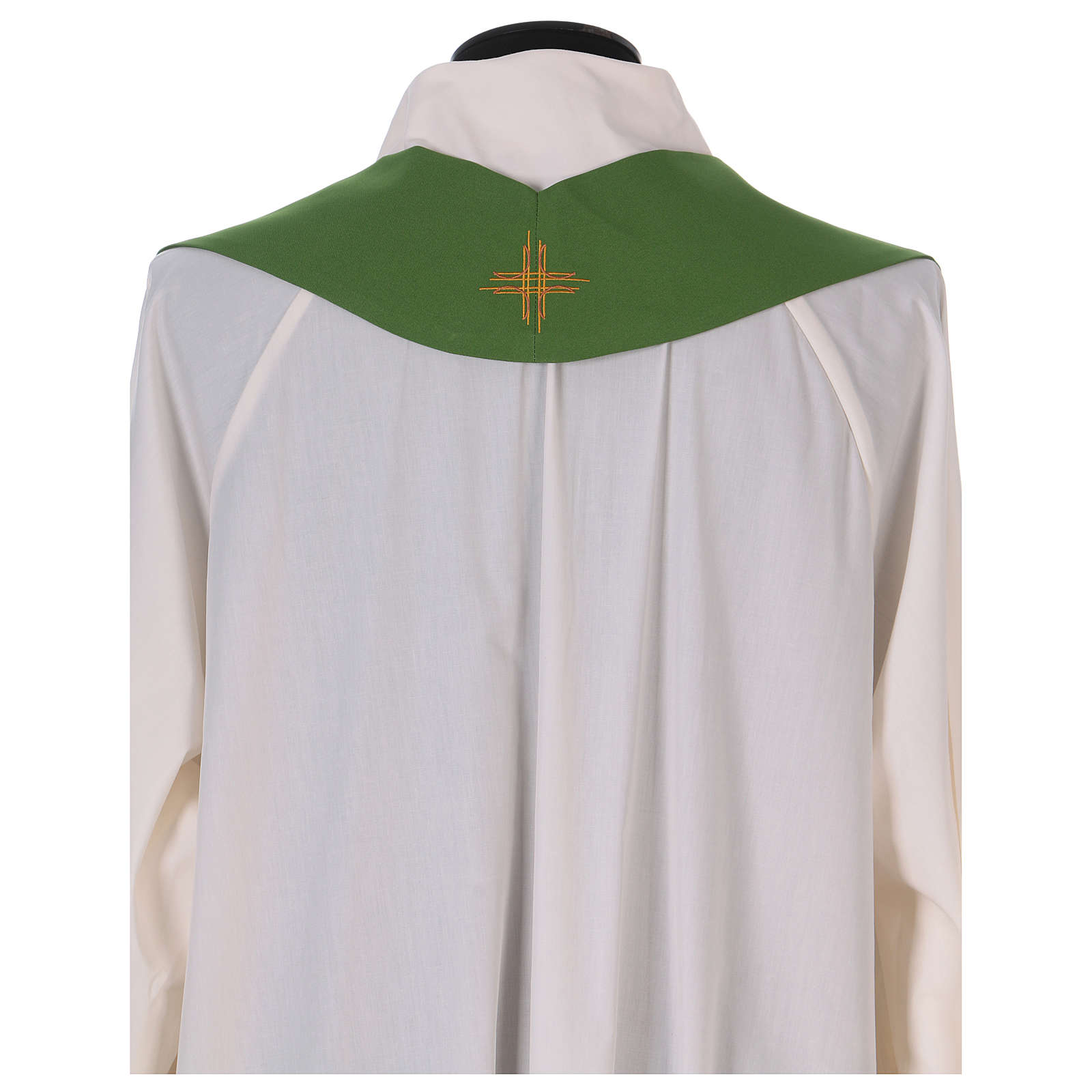 Monastic Chasuble in polyester with decorated gallon 4