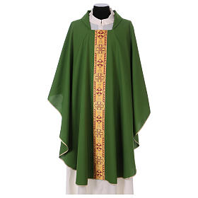 Monastic Chasuble in polyester with decorated gallon s1