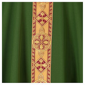 Monastic Chasuble in polyester with decorated gallon s2