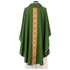Monastic Chasuble in polyester with decorated gallon s3