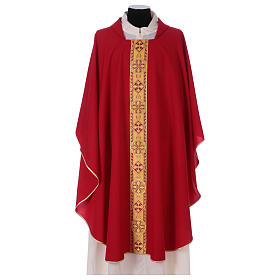 Monastic Chasuble in polyester with decorated gallon s4