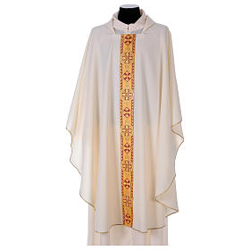 Monastic Chasuble in polyester with decorated gallon s5