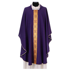 Monastic Chasuble in polyester with decorated gallon s6