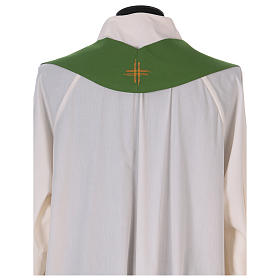 Monastic Chasuble in polyester with decorated gallon s8
