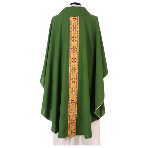 Monastic Chasuble in polyester with decorated gallon 3