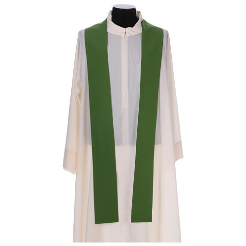 Monastic Chasuble in polyester with decorated gallon 7