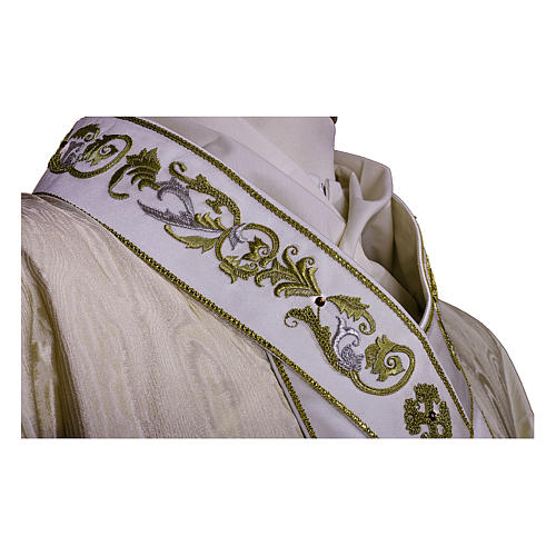 Casula tessuto preziosissimo lana seta, stolone e collo RICAMATI A MANO 2