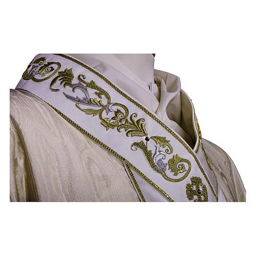 Casula Lã e Seda Tecido Precioso, Estolão e Pescoço BORDADOS À MÃO 2