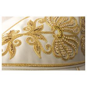 Casula 100% pura lana leggerissima stolone e collo in raso di seta RICAMO A MANO s2