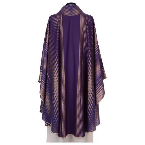 Chasuble rayée en tissu laine lurex très léger 3