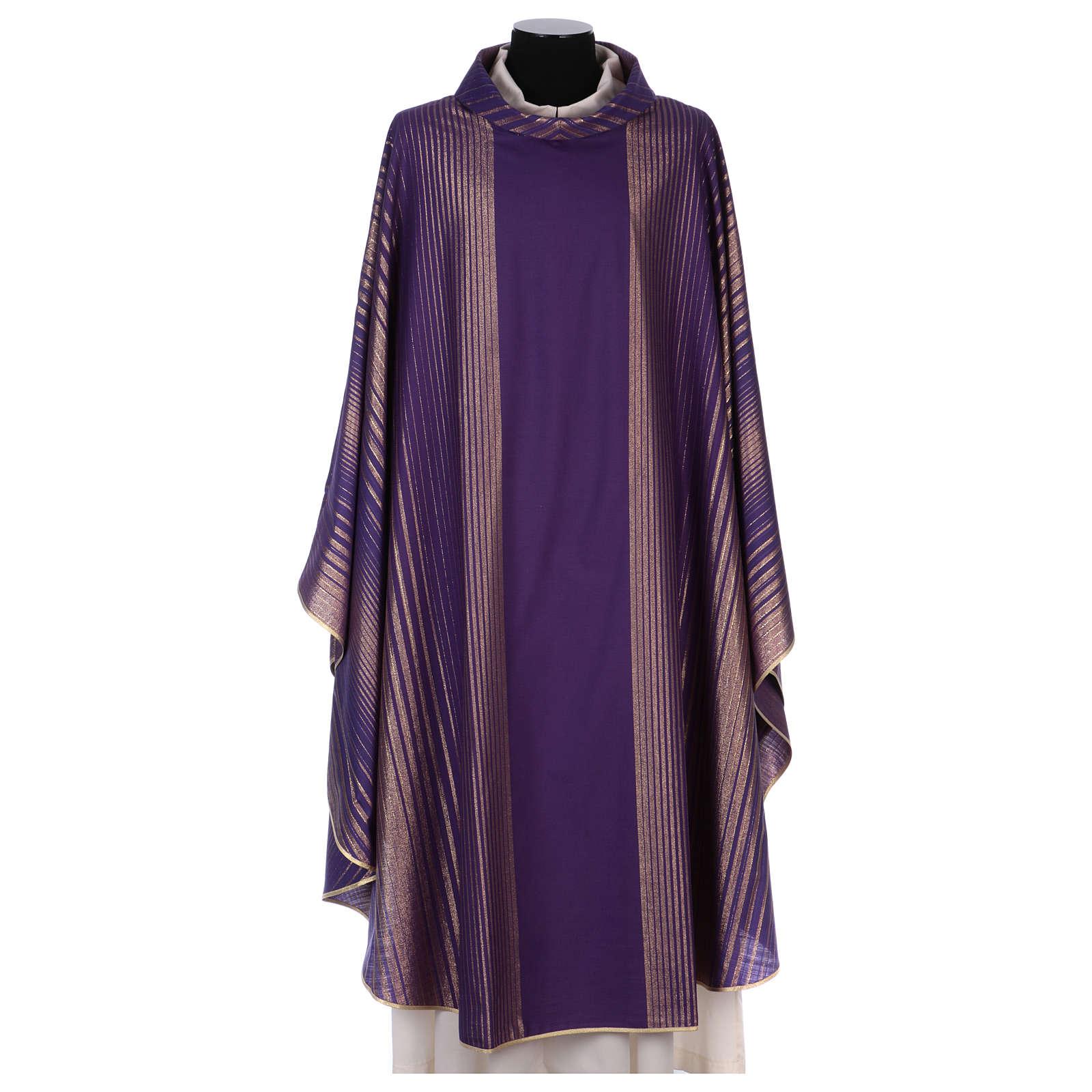 Casula rigata in tessuto lana lurex molto leggero 4