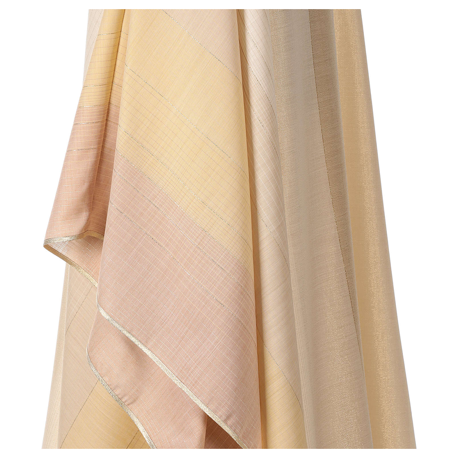 Chasuble en dégradé sur précieux tissu laine lurex 4