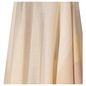 Chasuble en dégradé sur précieux tissu laine lurex s2