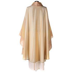 Chasuble en dégradé sur précieux tissu laine lurex s5