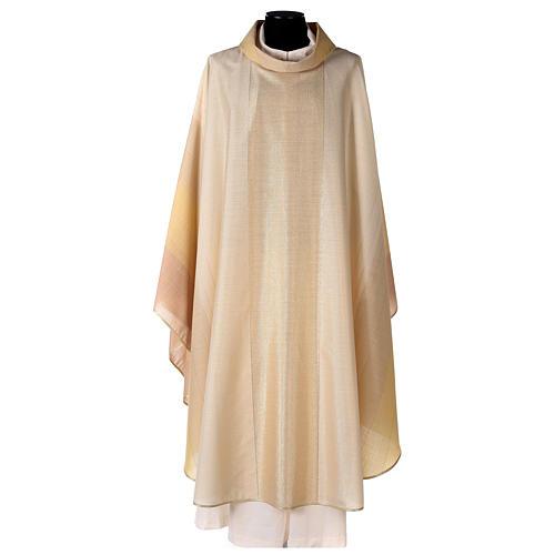 Chasuble en dégradé sur précieux tissu laine lurex 1