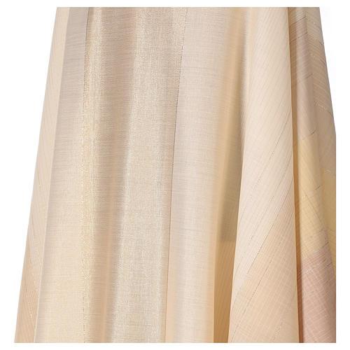 Chasuble en dégradé sur précieux tissu laine lurex 2