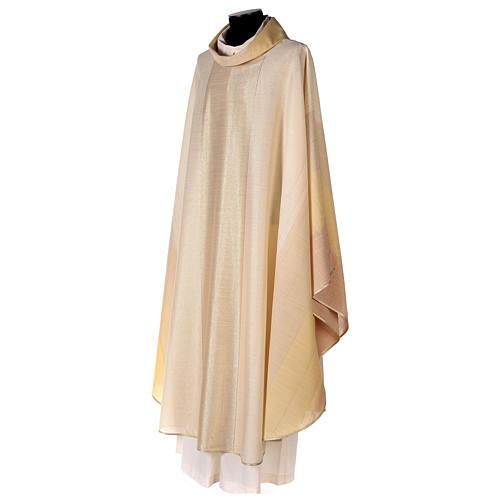 Chasuble en dégradé sur précieux tissu laine lurex 3