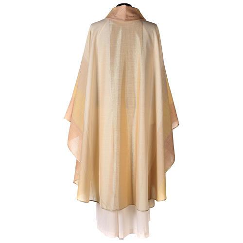 Chasuble en dégradé sur précieux tissu laine lurex 5