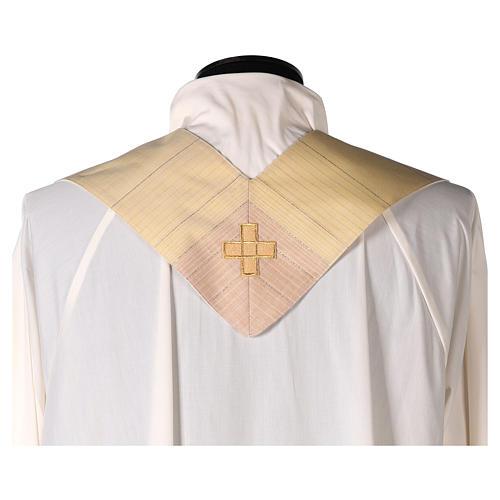 Chasuble en dégradé sur précieux tissu laine lurex 7