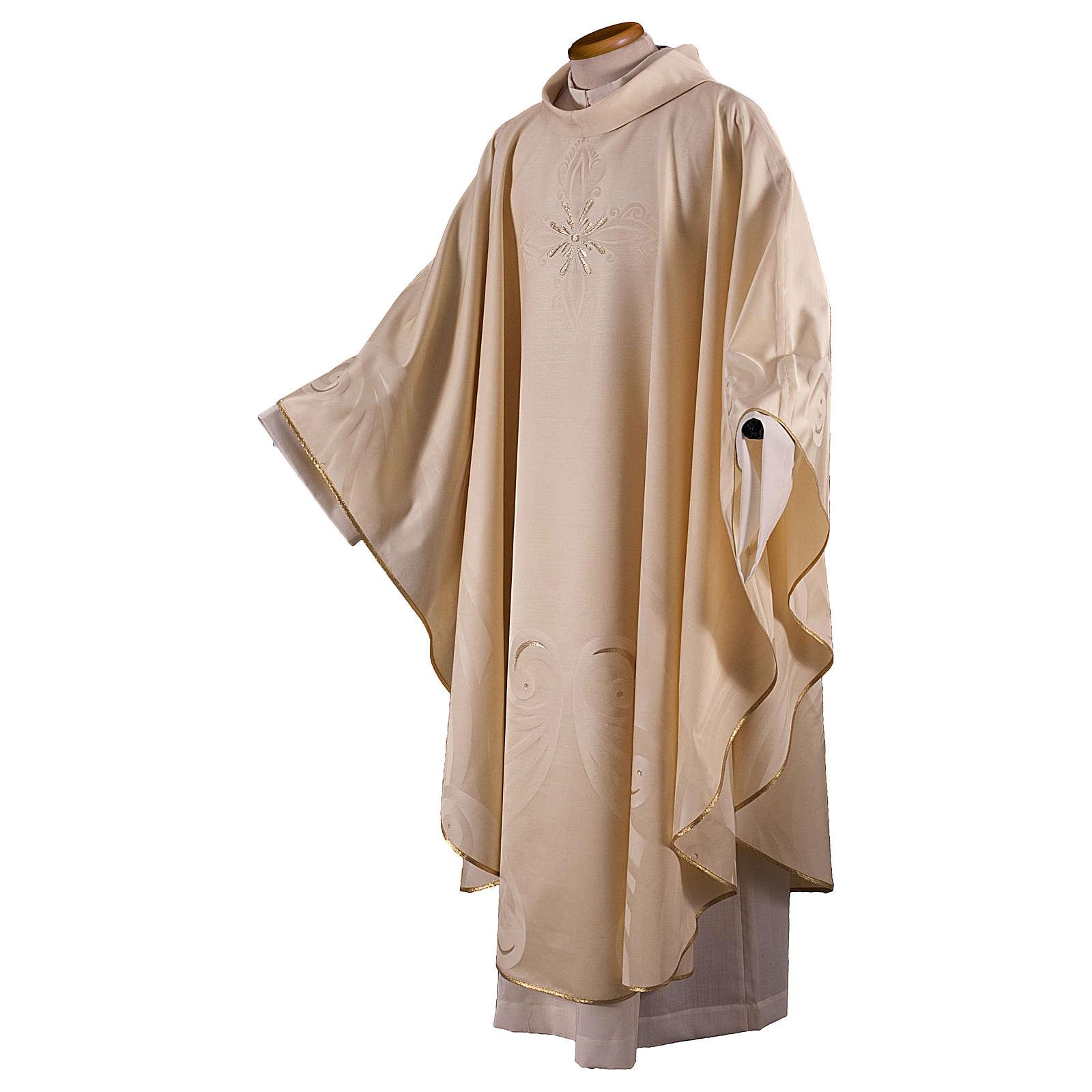 Casula in lana seta lavorata su telai Jacquard 4