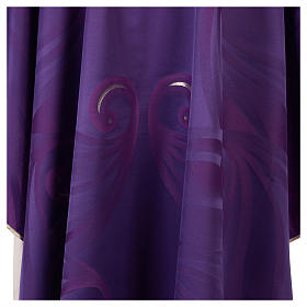 Casula in lana seta lavorata su telai Jacquard s4