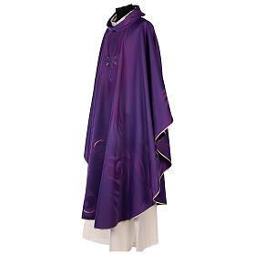 Casula in lana seta lavorata su telai Jacquard s5