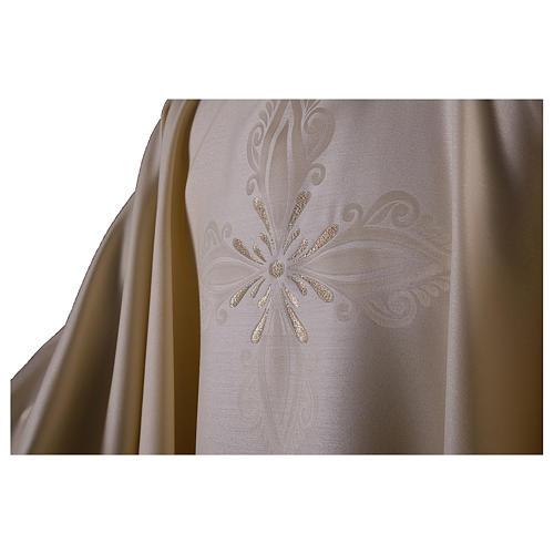 Casula in lana seta lavorata su telai Jacquard 2