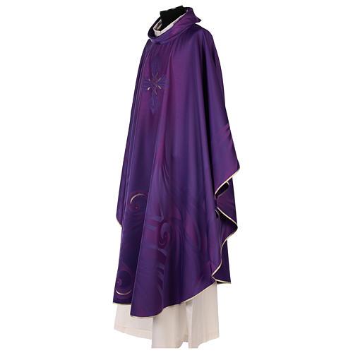 Casula in lana seta lavorata su telai Jacquard 5