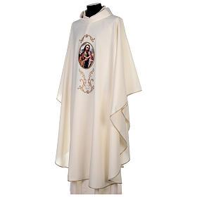 Casulla San José colores litúrgicos 100% poliéster s3