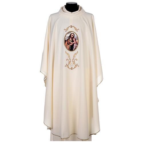 Casulla San José colores litúrgicos 100% poliéster 1