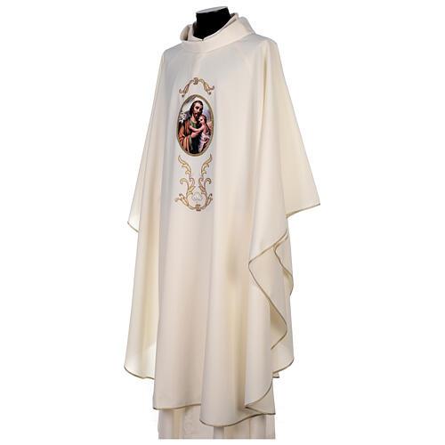Casulla San José colores litúrgicos 100% poliéster 3
