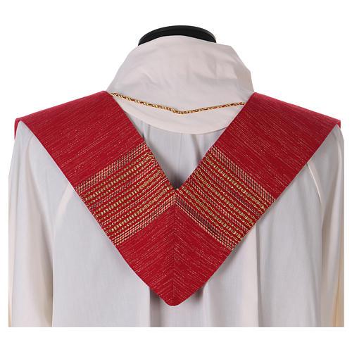 Casula lavorata su un tessuto di lana lurex 8