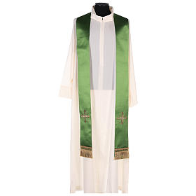 Chasuble in silk wool with embroidery s8