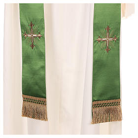 Chasuble in silk wool with embroidery s9