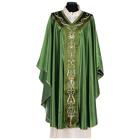 Chasuble in silk wool with embroidery s1