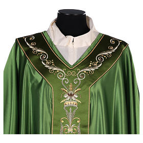 Chasuble in silk wool with embroidery s2