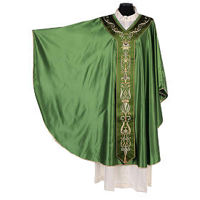 Chasuble in silk wool with embroidery s3