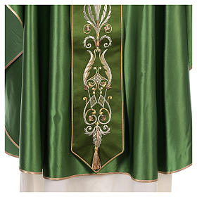 Chasuble in silk wool with embroidery s4