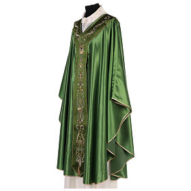 Chasuble in silk wool with embroidery s6